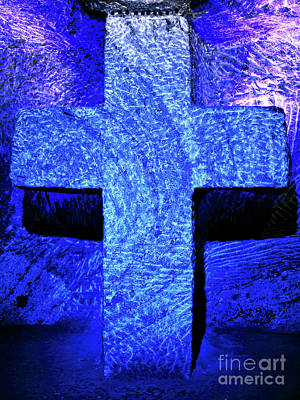 Photograph - Blue Cross Of Zipaquira by John Rizzuto