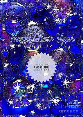 Photograph - Blue Crystal And Stars New Year by Joan-Violet Stretch
