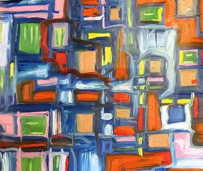 Alfredo Llana Painting - Blue Cube by Alfredo Dane Llana