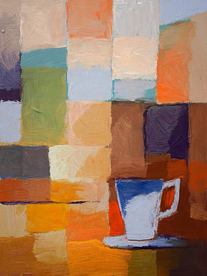 Espresso Painting - Blue Cup by Lutz Baar
