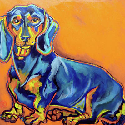 Blue Dachshund Art Print by Ilene Richard