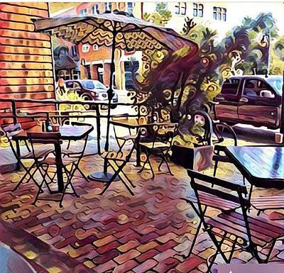 Photograph - Blue Dahlia Cafe by Cherylene Henderson