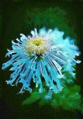 Digital Art - Blue Dahlia by Charmaine Zoe