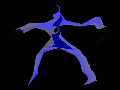 Digital Art - Blue Dancer II by James Granberry