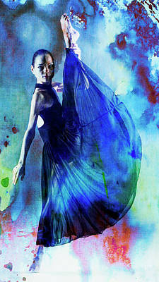 Digital Art - Blue Dancer by Janet Duffey
