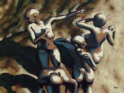 Blue Dancers Art Print by Leo Mazzeo