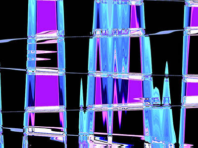 Digital Art - Blue Dark Wave by James Granberry