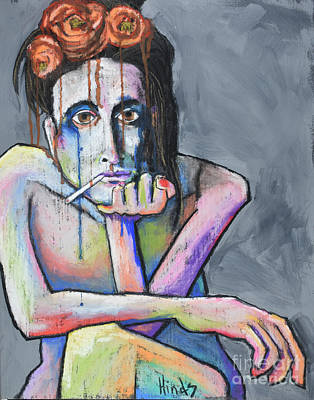 Portrait Pastel - Blue by David Hinds