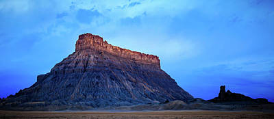 Photograph - Blue Dawn At Factory Butte. by Johnny Adolphson