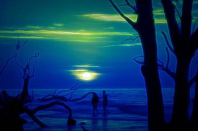 Digital Art - Blue Dawn by Jim Cook