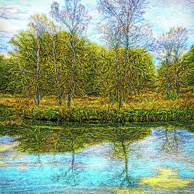 Digital Art - Blue Day Reflections by Joel Bruce Wallach
