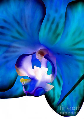 Floral Digital Art Digital Art Digital Art - Blue Daydream by Krissy Katsimbras
