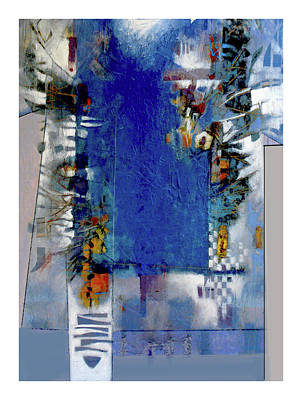 Mixed Media - Blue Deco by Dale Witherow