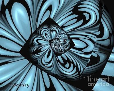 Digital Art - Blue Deep Hole by Donna Bentley