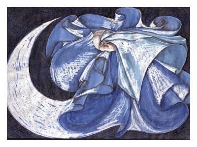Blue Derwish Art Print by Amrei Al-Tobaishi-Jarosch