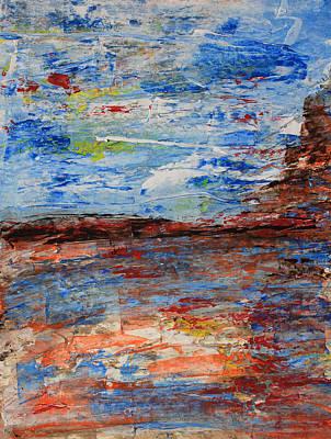 Blue Desert Art Print