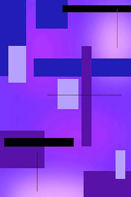 Blue Design 2 Vertical  Art Print