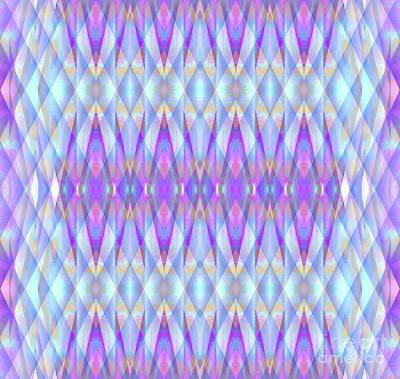 Painting - Blue Diamond Prism Pattern by Expressionistart studio Priscilla Batzell