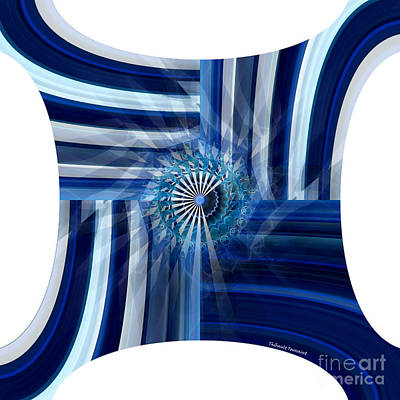 Blue Dimension  Art Print