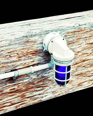 Photograph - Blue Dock Boat Light by Marilyn Hunt