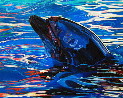 Blue dolphin painting by kelly mcneil Blandford swimming pool timetable 2017
