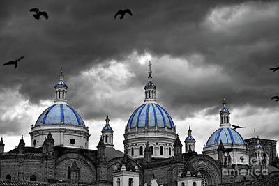 Photograph - Blue Domes Of The Cuenca Cathedral by Sam Antonio Photography