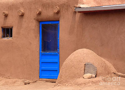 Photograph - Blue Door And Adobe by Richard Smith