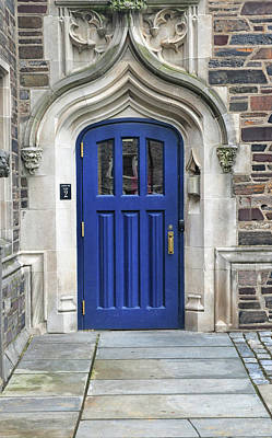 Photograph - Blue Door At Princeton University by Dave Mills
