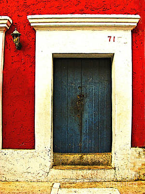 Blue Door By Michael Fitzpatrick Art Print by Mexicolors Art Photography