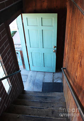 Old Town Temecula Photograph - Blue Door by Cheryl Del Toro