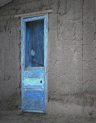 Photograph - Blue Door Cosmic Swirls by Nadalyn Larsen