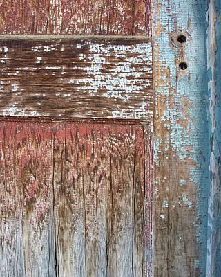 Digital Art - Blue Door Crackle by Ramona Murdock