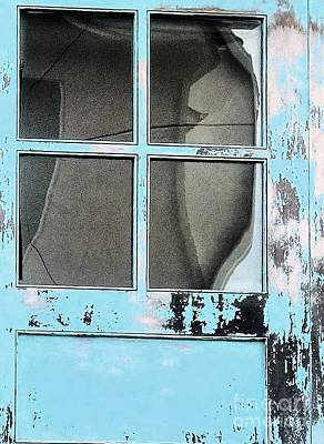 Photograph - Blue Door Forgotten By Time by Janette Boyd