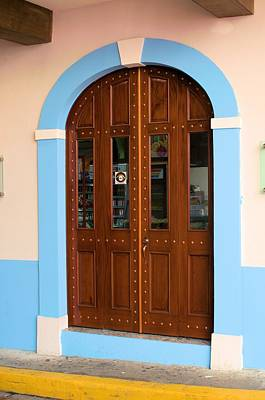 Photograph - Blue Door Frame by Douglas Pike