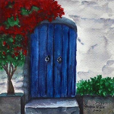 Blue Door Art Print by Georgia Pistolis