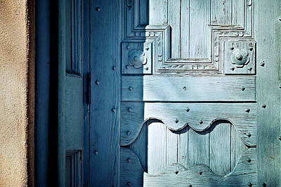 Anthropomorphic Photograph - Blue Door by Humboldt Street
