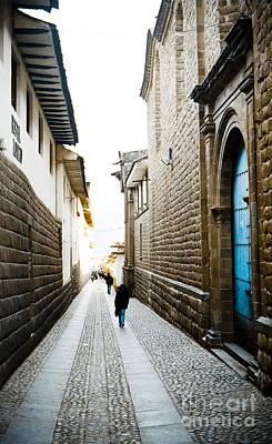 35mm Photograph - Blue Door In Cusco by Darcy Michaelchuk