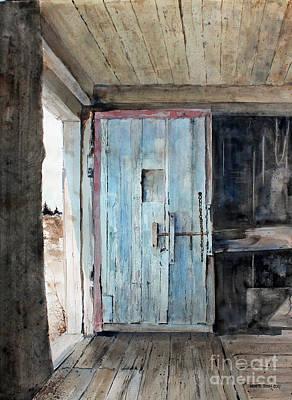 Blue Door  Art Print by Monte Toon