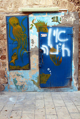 Photograph - Blue Door by Munir Alawi
