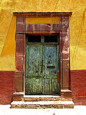 Portal Photograph - Blue Door by Mexicolors Art Photography