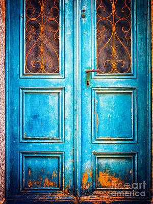 Photograph - Blue Door by Silvia Ganora