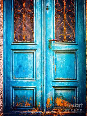 Photograph - Blue Door by Silvia Ganora
