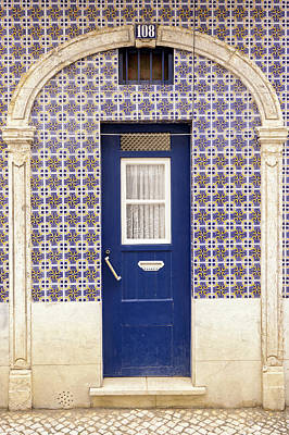 Photograph - Blue Door Tiles Lisbon by For Ninety One Days