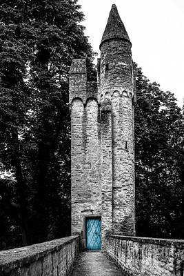 Blue Door Tower Art Print by Amy Sorvillo