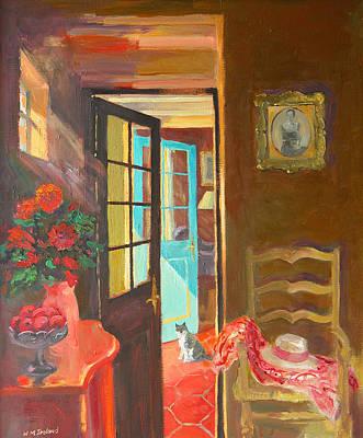 Entrance Door Painting - Blue Door by William Ireland