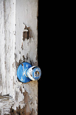 Blue -- Doorknob On An Old Door In Hwy 166,santa Barbara County, California Art Print