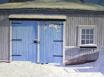 Blue Barn Doors Painting - Blue Doors by Anna Roberts