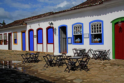 Photograph - Blue Doors At Paraty by Nareeta Martin
