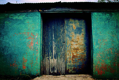 Photograph - Blue Doors Blue Walls by Toni Hopper
