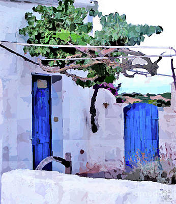 Photograph - Blue Doors by Dee Flouton